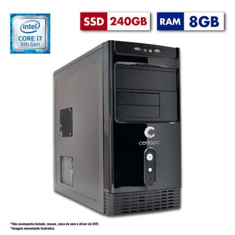 Desktop Certo Pc Desempenho 1207 I7-9700 3.60ghz 8gb 240gb Intel Hd Graphics Linux Sem Monitor
