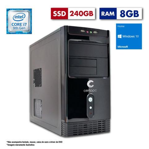 Desktop Certo Pc Desempenho 1208 I7-9700 3.0ghz 8gb 240gb Intel Hd Graphics Windows 10 Pro Sem Monitor