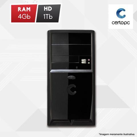 Desktop Certo Pc Fit1025 Celeron J1800 2.41ghz 4gb 500gb Intel Hd Graphics Linux Sem Monitor