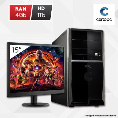 Desktop Certo Pc Fit1033 Celeron J1800 2.41ghz 4gb 1tb Intel Hd Graphics Linux Com Monitor