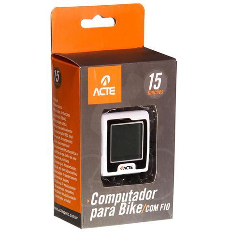 Imagem de Computador Para Bike Com Fio 15 Funções Branco A30 Acte