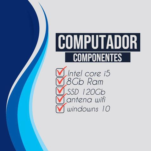 Imagem de Computador Pc Completo i5 3 Geração 8gb ssd128Gb + Wi-fi