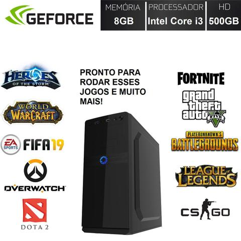 Imagem de Computador PC Gamer Completo Barato Monitor LED HDMI Intel Core i3 (Geforce GT 2GB) 8GB HD 500GB EasyPC Playing