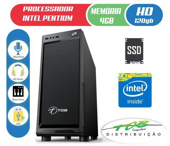 Imagem de Computador TOB PDV com AMD  Athlon 200GE HD SSD 120GB 4GB de Memória Gabinete Preto