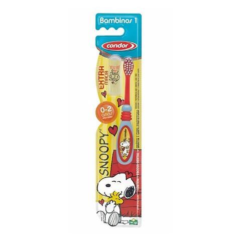 Imagem de Condor Snoopy Escova Dental C/ Protetor 0a2 Anos