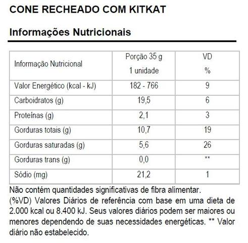 Imagem de Cone recheado marvi kitkat - display 8 unidades