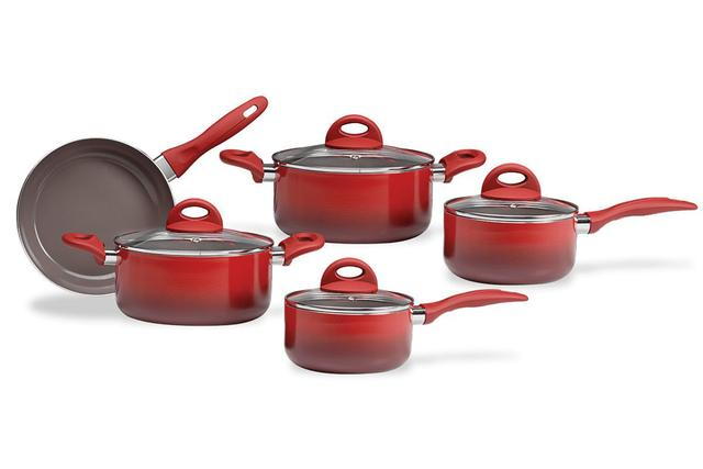 Imagem de Conj. Ceramic Life Granada indução 5PÇS Vermelha - Brinox