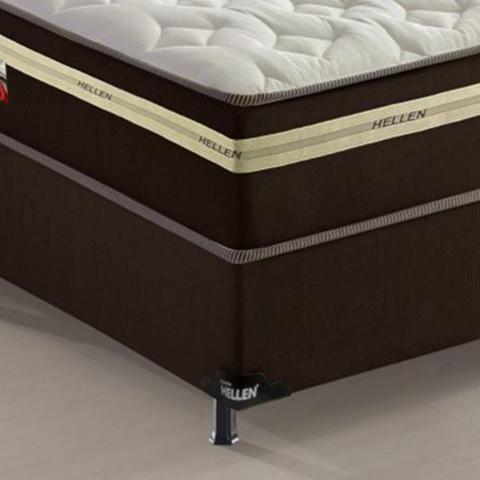 Imagem de Conjugado Box Casal com Molas 138x188x61cm Xicória Confort Hellen
