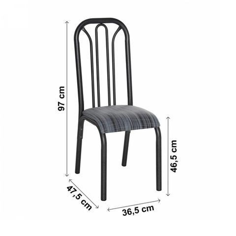 Imagem de Conjunto 2 Cadeiras Aço Lion Clássica Ciplafe Preto/Riscado Preto