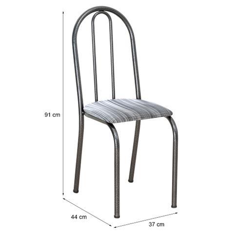 Imagem de Conjunto 2 Cadeiras Éos Cromo Preto e Linho