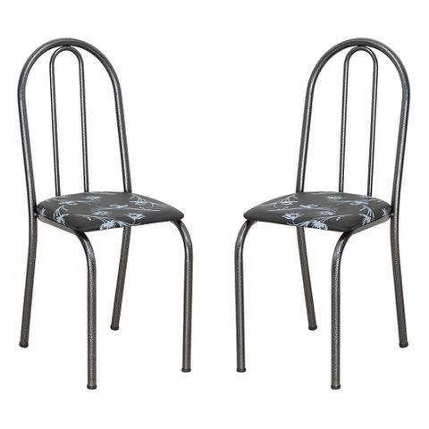 Imagem de Conjunto 2 Cadeiras Éos Preto Flor