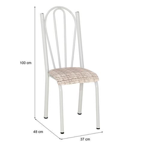 Imagem de Conjunto 2 Cadeiras Mnemósine Branco e Rattan