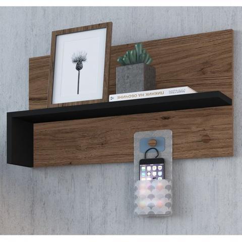 Imagem de Conjunto 2 Prateleiras Multiuso para Escritório BR126 Criando Mobilia Preto/Madeirado