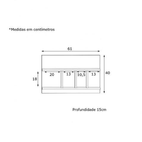 Imagem de Conjunto 3 Prateleiras para Escritório EST017 Criando Mobilia Preto