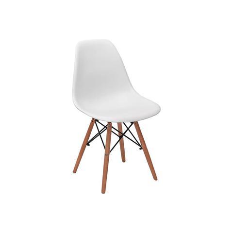 Imagem de Conjunto 4 Cadeiras Charles Eames Eiffel Wood Base Madeira - Branca
