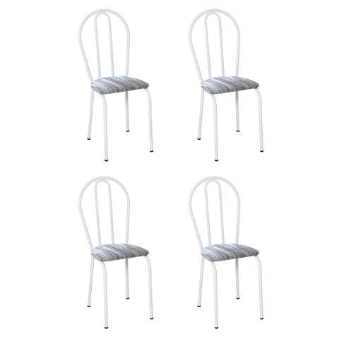 Imagem de Conjunto 4 Cadeiras Hécate Branco e Linho