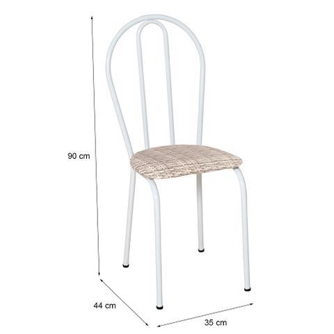 Imagem de Conjunto 4 Cadeiras Hécate Branco e Rattan