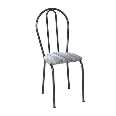 Imagem de Conjunto 4 Cadeiras Hécate Cromo Preto e Linho