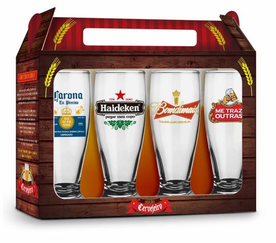 Imagem de Conjunto 4 copos munich - cervejas internacionais