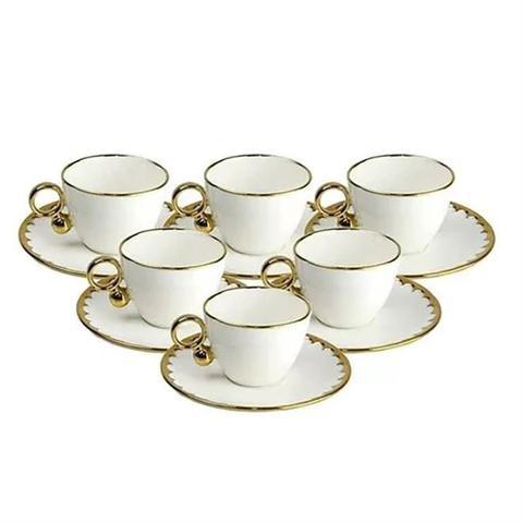 Imagem de Conjunto 6 Xícaras 200ml Para Café Porcelana Egg Wolff
