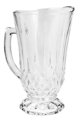 Imagem de Conjunto 7 peças jarra com 6 copos de vidro roberta 7459