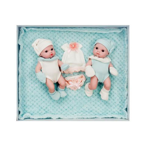 Imagem de Conjunto Boneca Bebês Recém Nascido Gêmeos Tipo Bebê Reborn