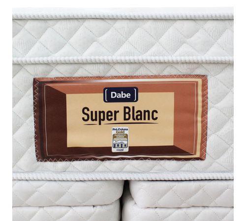 Imagem de Conjunto Box Baú Frontal Casal Antigo Cosmopolita Branco com Colchão Dabe Super Blanc - Molas Ensacadas - 128x188