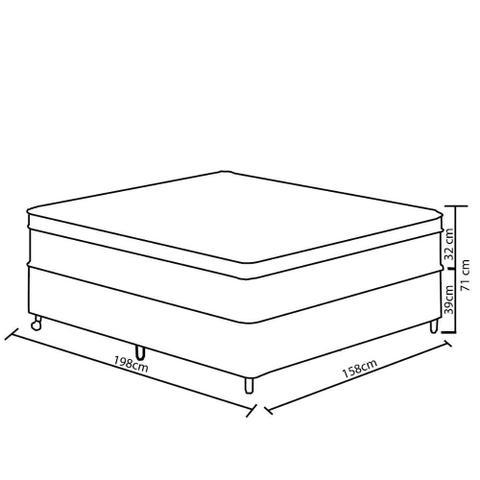 Imagem de Conjunto Box Queen 158 cm com Pillow Top Love Story Gazin