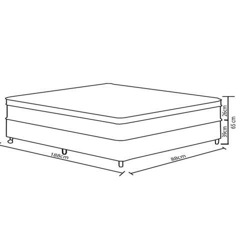 Imagem de Conjunto Box Solteiro D28 88cm New York Gazin
