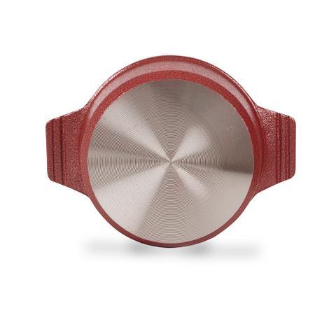 Imagem de Conjunto c 5 Panelas Forno Fogão Premium Revestida em Cerâmica Antiaderente e Alu. Fundido Vermelha