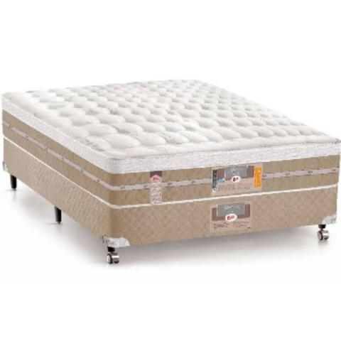 Imagem de Conjunto cama box casal castor star air pocket one face - 138x188x72 cm