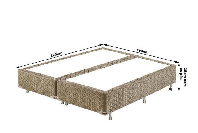 Imagem de Conjunto Cama Box King Acacia Molas Ensacadas 193x203x75 Colchão + Cama Box