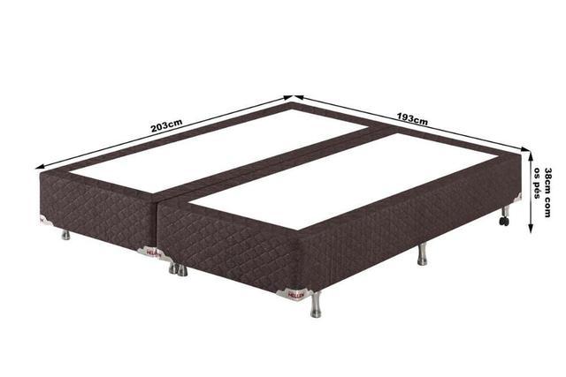 Imagem de Conjunto Cama Box King Double Confort Relax Com Massageador 193x203x78 Colchão + Cama Box