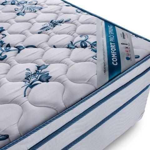 Imagem de Conjunto Cama Box Physical com Colchão Solteiro Molas Nanolastic Confort (20x88x188) Branco