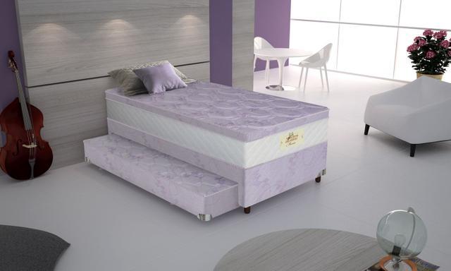 Imagem de Conjunto cama box solteiro e cama auxiliar Coleção Kids Maisa BaseJacquard Bonnel 1,98 Gazin