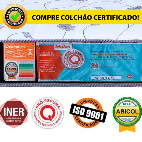Imagem de Conjunto Colchão Solteiro D33 + Cama Box Colchão Bicama BF Colchões 88x188x48cm