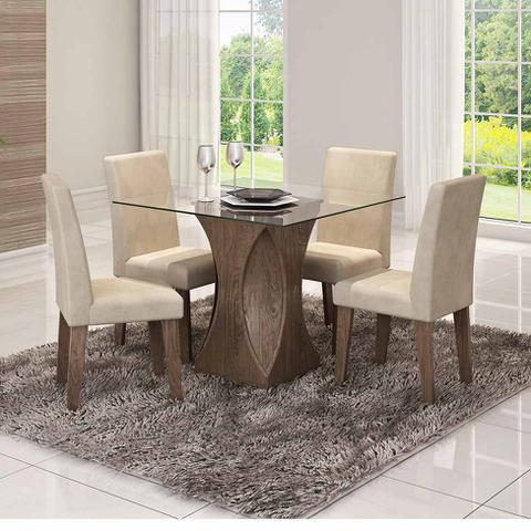 Imagem de Conjunto com 2 Cadeiras Milena Marrocos e Bege