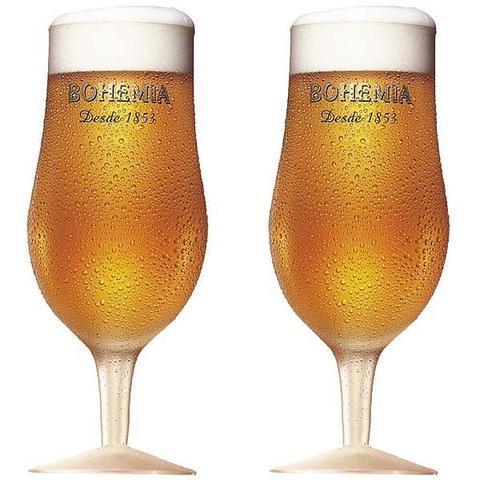 Imagem de Conjunto com 2 Taças Bohemia Pilsen em Vidro para Cerveja 380ML Globimport
