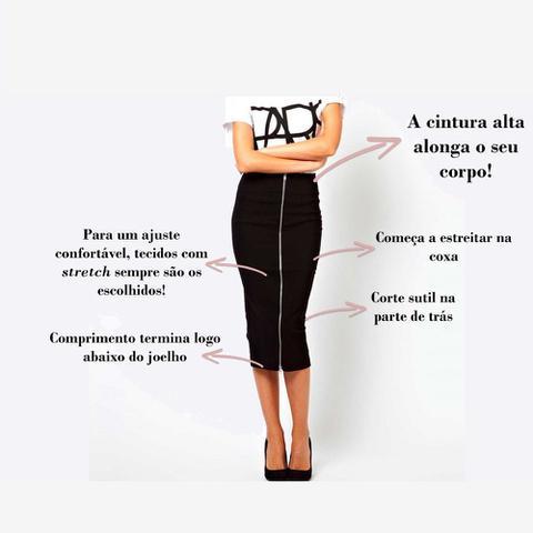 Imagem de Conjunto com Blazer + Saia Lápis Midi Preta Lisa Moda Evangélica Abafarto