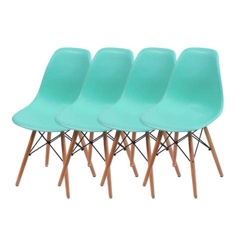 Imagem de Conjunto de 4 Cadeiras Eames DSW - Tiffany