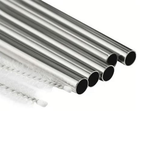 Imagem de Conjunto de 8 Canudos ECO em Aço Inox e 2 Escovas para Limpeza em Nylon Reutilizável