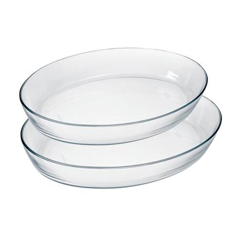 Imagem de Conjunto de Assadeira de Vidro Temperado Oval com 2 Pçs