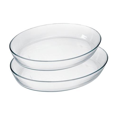 Imagem de Conjunto de Assadeira de Vidro Temperado Oval com 2 Pçs - Marinex