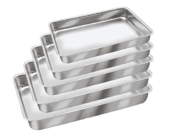 Imagem de Conjunto de Assadeiras Formas Para Bolo em Alumínio 5 Peças