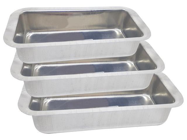 Imagem de Conjunto de Assadeiras Formas Para Pão em Alumínio 3 Peças