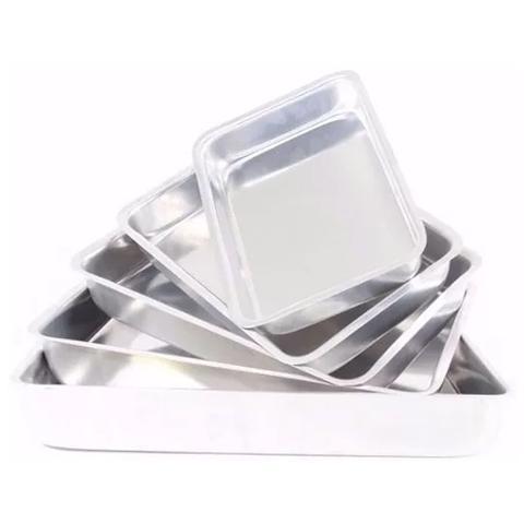 Imagem de Conjunto de Assadeiras Formas Retangulares Para Bolo em Alumínio 5 Peças