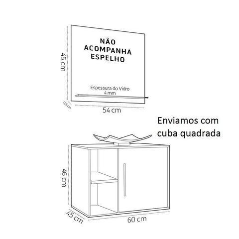 Imagem de Conjunto de Banheiro Completo Balcão Painel e Cuba - Carvalho