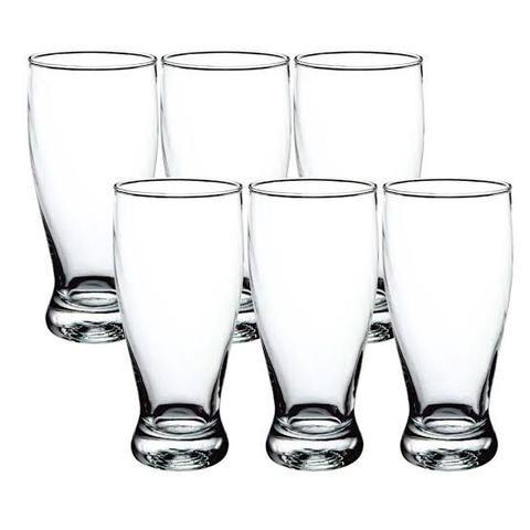Imagem de Conjunto de Copos Para Cerveja deVidro Lyor 340ml