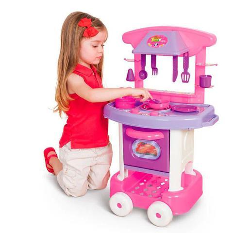 Imagem de Conjunto de Cozinha Infantil - Play Time - Rosa - Cotiplás