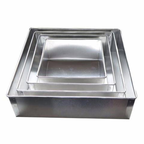 Imagem de Conjunto De Formas Quadradas Altas 4 Peças Alumínio-10cm Alt